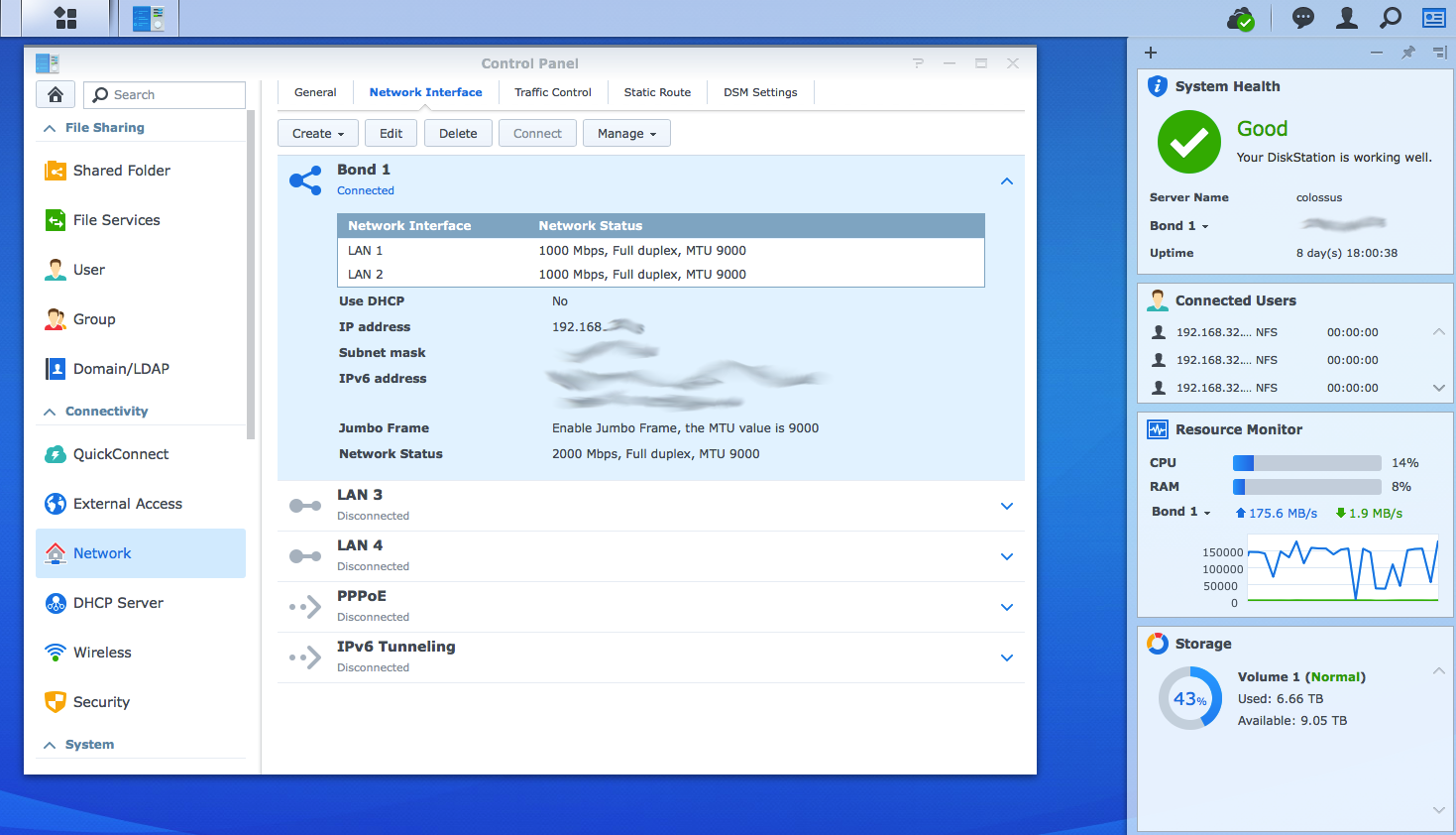 Synology network bonding with LACP – EdVoncken NET